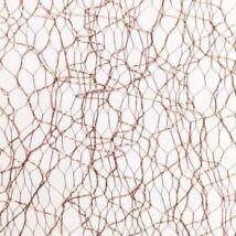 SHINY MESH - ozdoba na nechty - trblietavá sieť - zlato - hnedá