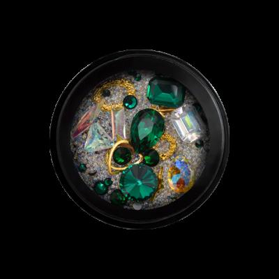 Treasure Island - kolekcia ozdobných kamienkov - zelená