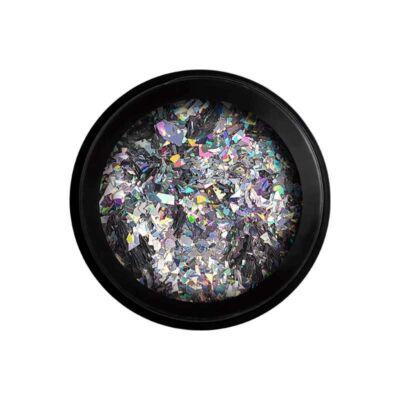 Wonder Flakes - Glitter na nechty- Flitre veľké - Strieborný