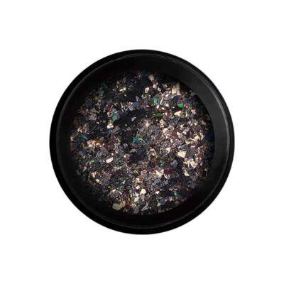 Wonder Flakes - Glitter na nechty- Flitre veľké - čierný